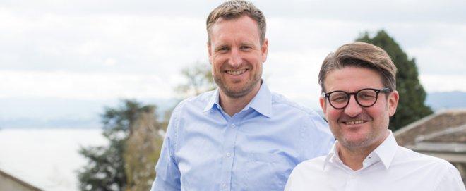 Foto: zVg/Procivis; Philipp Dick , CEO und Mitgründer von Skribble (links), und Daniel Gasteiger, CEO und Gründer von Procivis (rechts).