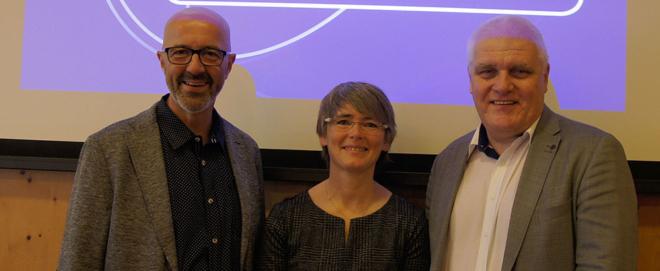 Foto: zVG; André Gold, Susanne Hänni und Uwe Betz-Moser brachten das Projekt Startbahn29 zu glow. Das Glattal.
