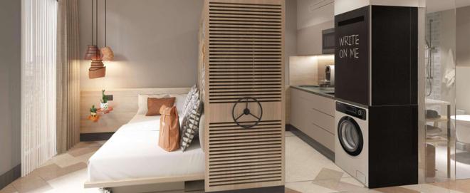 Foto: SV Hotel; Beim Stay Kooook-Konzept werden Gäste in eingerichteten Studios untergebracht.