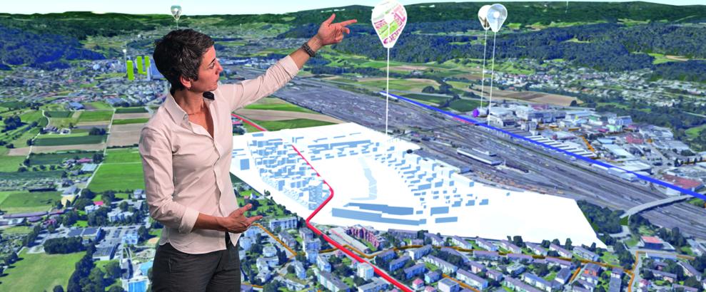 Foto: Limmatstadt AG; Das Limmattal verfügt nun über das schweizweit erste 3-D-Stadtmodell für eine ganze Region.