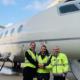 Foto: Flughafen Zürich AG; Am Flughafen Zürich wurde erstmals eine Geschäftsmaschine mit Bio-Kerosin betankt.
