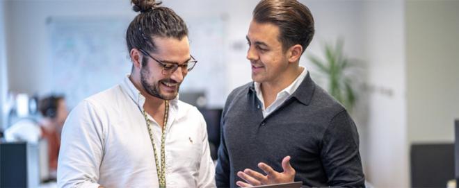 Bild: zVg; Nicolas Berchten (links) und Jodok Betschart (rechts) sind Mitgründer und Co-CEOs von evenito.