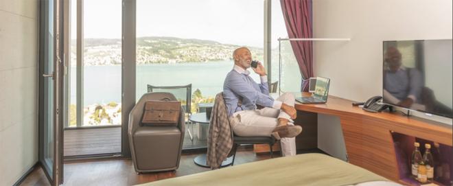Bild: Hotel Belvoir; Hotelzimmer werden während der Corona-Krise zu Büros.