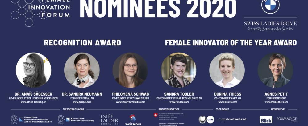 FIF; Die nominierten Gründerinnen des Female Innovation Forums 2020