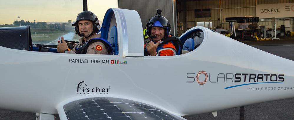 Bild: 2020 SolarStratos; Solarpionier Raphaël Domjan hebt mit seiner Solarstratos künftig auch mit Unterstützung von Planzer ab.
