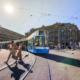 Bild: VBZ; Das Flexity Tram am Paradeplatz