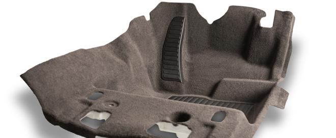 Bild: Autoneum; Der Tufting-Teppich wird aus wiedergewonnenem PET hergestellt.