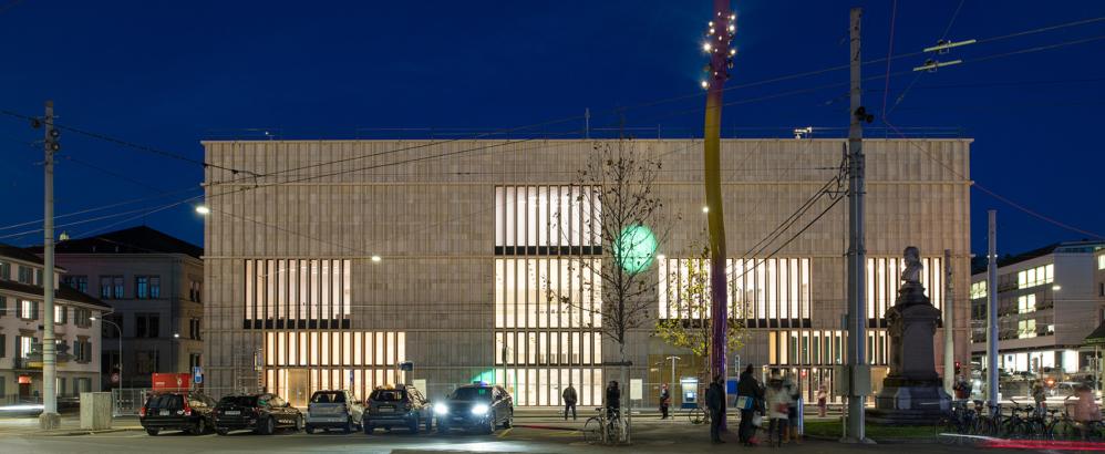 Bild: Juliet Haller; Erweiterung Kunsthaus Zürich bei Nacht
