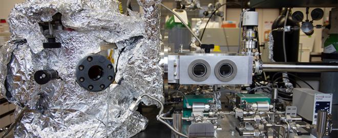 Bild: Empa; Hier drin entstehen die Skyrmionen im Ultrahochvakuum.