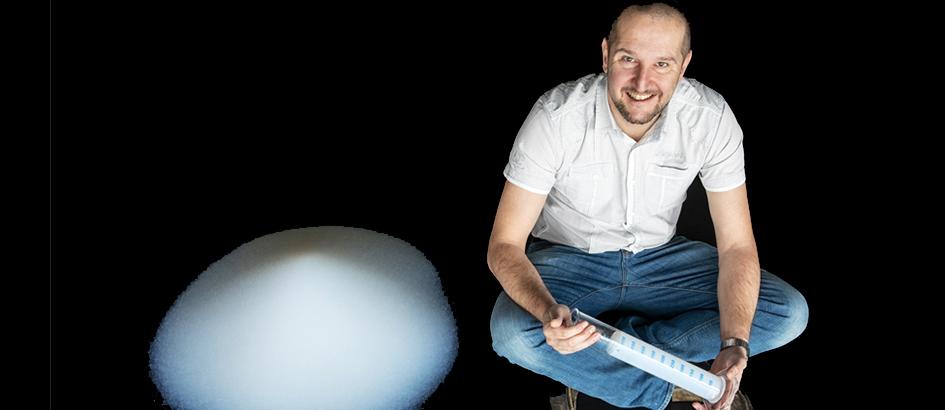Bild: Empa; Matthias Koebel ist der Gründer des Start-ups Siloxene.
