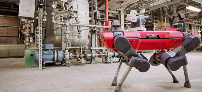 Bild: ANYbotics AG; Am Standort von BAFS in Ludwigshafen sind neu Roboter von ANYbotics unterwegs.