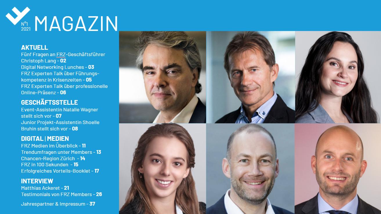 Bild: FRZ; Cover der aktuellen MAGAZIN-Ausgabe der FRZ Flughafenregion Zürich.