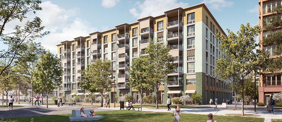 Bild: Steiner AG; Im Haus Weiler sollen 80 Eigentumswohnungen entstehen.