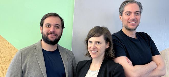 Bild: zVg/Futurae; Die Mitgründer Claudio Marforio (COO), Sandra Tobler (CEO) und Nikos Karapanos (CTO) wollen mit der neuen Kapitalspritze auch international expandieren (von links).