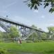 Bild: Technorama Winterthur; Park mit Wunderbrücke.