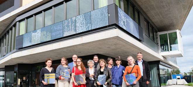 Bild: Empa; Das Projekt Glasklar wurde an den NEST-Fassaden umgesetzt. Es wurde von einem interdisziplinären Team entwickelt.