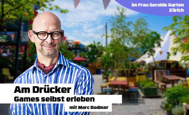 Bild: René Ruis, Montage estudios.ch; Workshop «Am Drücker – Games selbst erleben»
